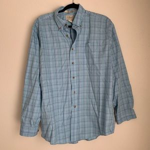 L.L. Bean plaid button down shirt